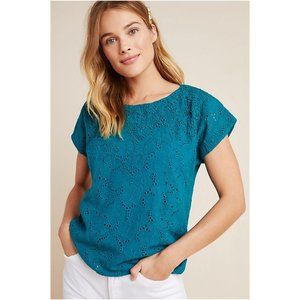 NWT anthropologie karine beaded lace top, size 8